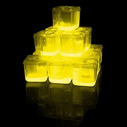 Glowing-Ice-Cubes-Yellow
