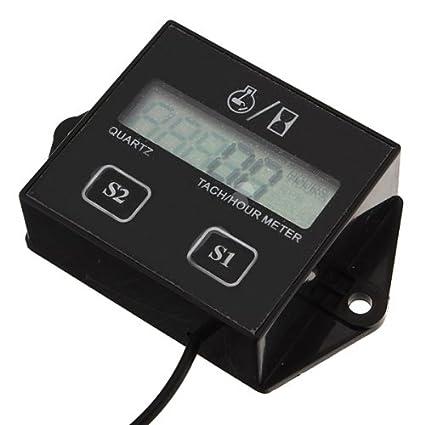 Generic-Spark-Plugs-Gas-Engine-Digital-Tach-Hour-Meter-Tachometer-Gauge-Atv