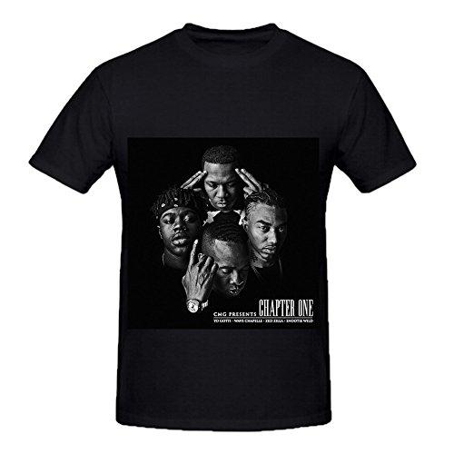 [Yo Gotti Chapter One Pop Album Cover Mens Crew Neck Custom Tee Shirts Black] (Sweeney Todd Halloween)