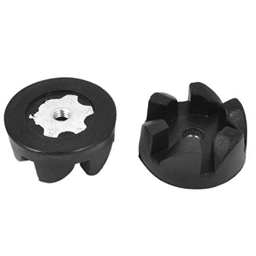 Kitchen Black Food Blender Clutch Gear Shear Coupler 32Mm Dia 2Pcs front-619617