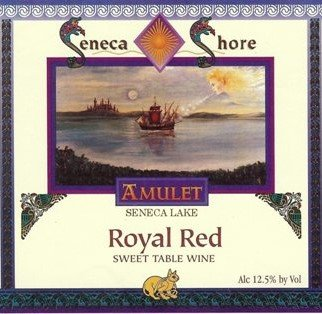 "Nv Seneca Shore Wine Cellars ""Royal Red"", Seneca Lake, Sweet Native Red Wine Blend, 750 Ml"