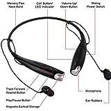 Celkon A119Q Signature HD Compatible Universal Bluetooth Headset with Detachable earpiece - Black