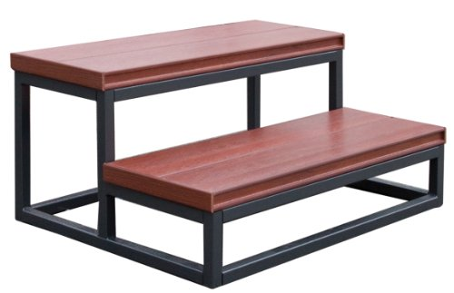 Cal Metro D955-CSMI-A Outdoor 30-Inch Two Tier Step, Mist