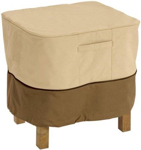 Classic Accessories Veranda Square Patio Ottoman/Side Table Cover - Durable and Water Resistant Patio Furniture Cover, Small (70972) (Small Patio Side Table compare prices)