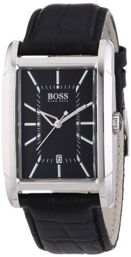 Hugo Boss 1512619 - Reloj analógico de mujer de cuarzo con correa de piel negra