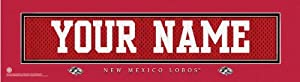 NCAA Personalized Jersey Stitch Print Black Framed Collegiate New Mexico Lobos by You