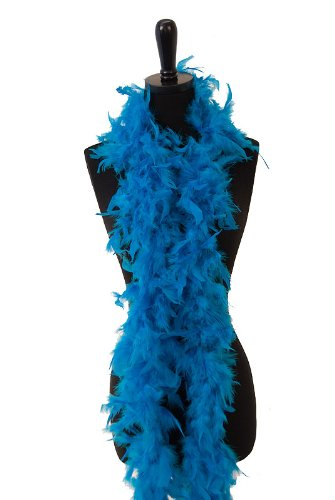 6' 60g Adult Feather Boa, Teal