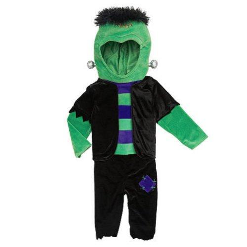 Koala Kids Toddler Boys Plush Green Monster Costume Frankenstein Jumper front-1009609