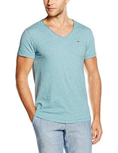 Hilfiger Denim Thdm VN Knit S/S 3, T-Shirt Uomo, Blau (Colonial Blue 407), M