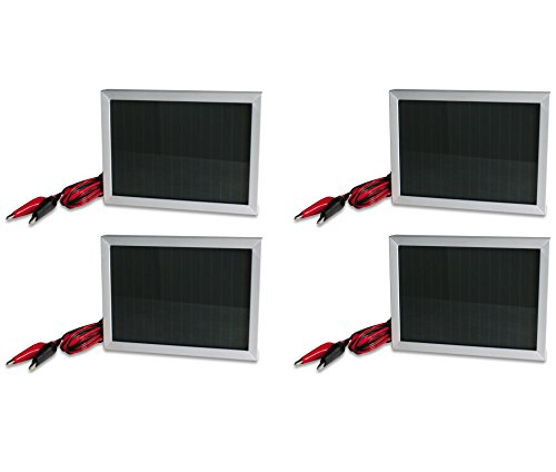 (4) Moultrie 12 Volt Solar Power Panels For Hunting Deer Game Feeders | Mfh-Sp12
