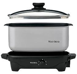 West Bend 84905 5-Quart Oblong-Shaped Slow Cooker