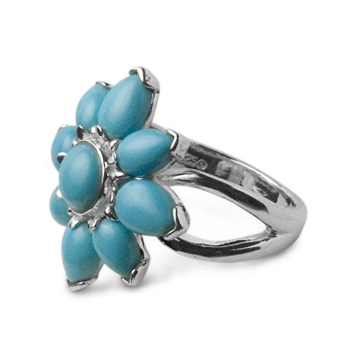 Sleeping Beauty Turquoise Desert Flower Ring