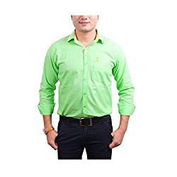 Aedi Men's Casual shirts (GRN43SR_Green_S)