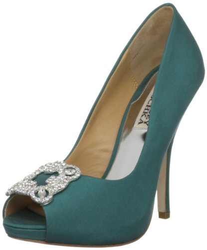 Badgley Mischka Women's Gayla Jade Silk Special Occasion Heels MP2221 7 UK, 9 US