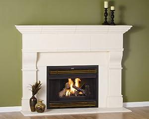 Edinborough Thin Cast Stone Adjustable Fireplace Mantel Complete Unit Kit