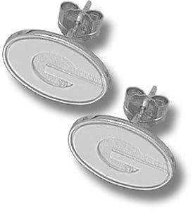 Buy Logo Art Georgia Bulldogs Sterling Silver Team Font 5 16 Post Earrings by Logo Art