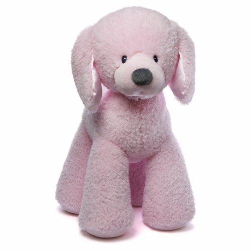 """Gund Baby Gund Fluffy Plush Toy, Pink Puppy, 24"""" front-908495"""