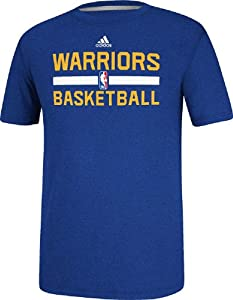 Golden State Warriors Heather Blue Climalite Practice Short Sleeve Shirt by Adidas by adidas