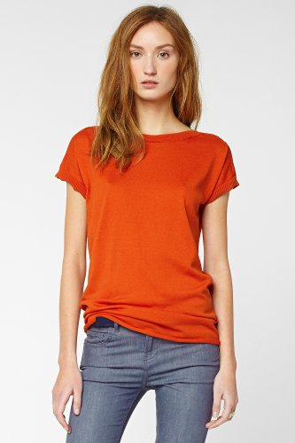 Short Sleeve Silk Cotton Boatneck Sweater