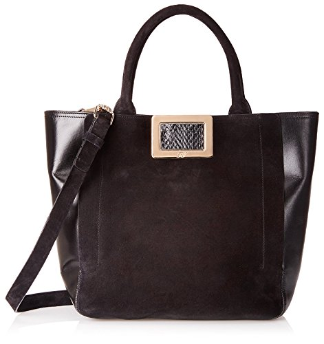 Roger-Vivier-Womens-Borsa-RV-Shoulder-Bag-Nero