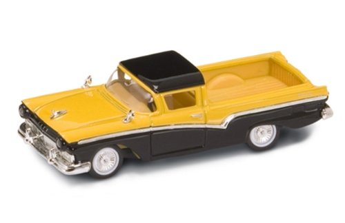 1957 Ford Ranchero Yellow/Black 1/43 Diecast Car Model