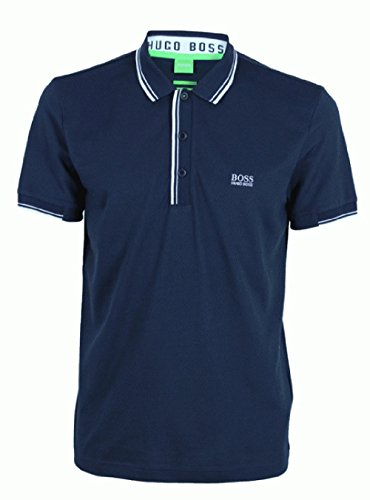 'Paule' | Slim Fit, Stretch Cotton-Blend Polo Shirt By Boss Green Model Paule (S, Navy)