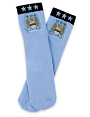Cotton Rich Manchester City F.C Terry Slipper Socks