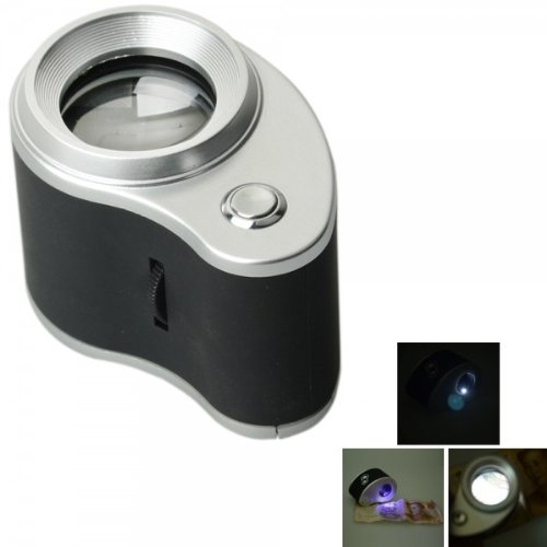 Fast Shipping + Free Tracking Number, Magnifier 27 Mm 10X Lens Portable Adjustable Focus Microscope Magnifying Glass Loupe Led Light Illumination