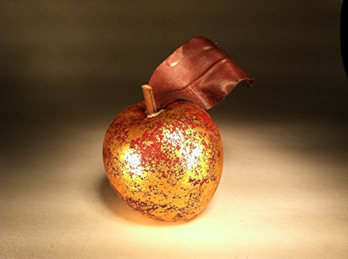 Fortune Share Golden Antique Colored Small Apples Ornament for Decorative Basket- (Box of 6)