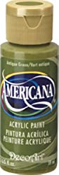 Antique Green 2oz Bottle Americana Craft Acrylic Paint By Deco Art