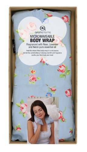 Aroma Home Blue Rose Bud Pattern Microwavable Body Wrap
