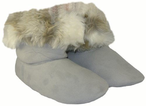 Cheap Style & Co. Faux Fur Grey Bootie Slippers Size X-Large Fits Ladies Shoe Size 11-12 (B009CYH18Y)
