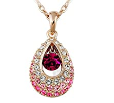 buy Eastop Full Aaa Cz Women Platinum/White Gold Plated Austrian Crystal Swarovski Elements Crystal Pendant Necklace For Women In A Gift Box Christmas Gift (C4)