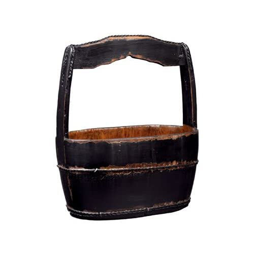 Antique Revival Shanghai-Style Water Bucket, Black