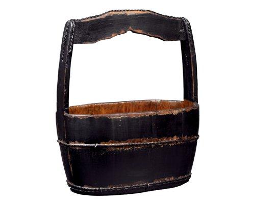 Antique Revival Shanghai-Style Water Bucket, Black 0