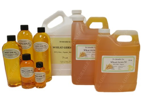 Wheat Germ Oil Cold Pressed Organic Pure 7 Lb/One Gallon