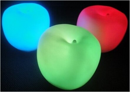 Seven Color Change Romantic Apple Shape Night Light Xmas Night Lamp For Lovers Daily Use Decoration Candle Lamp Novelty Great Gift 2Pcs