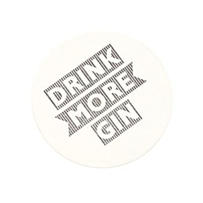 Letterpress Beer Mat - Drink More Gin