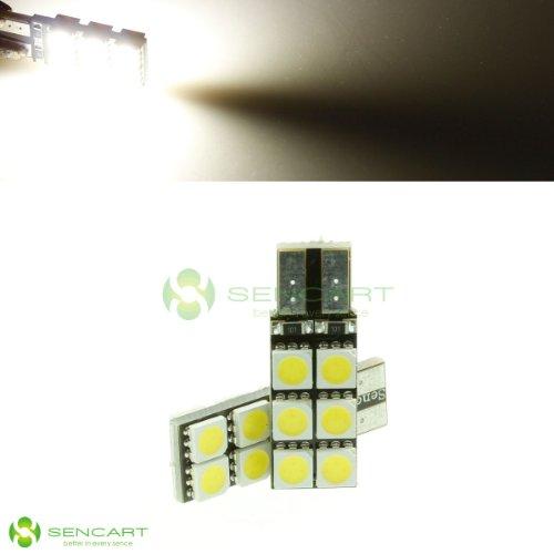 T10 194 168 W5W 2.5W 6500K 168-Lumen 12-5050 Smd Led White Lights Bulb Light Lamps Dc 12V