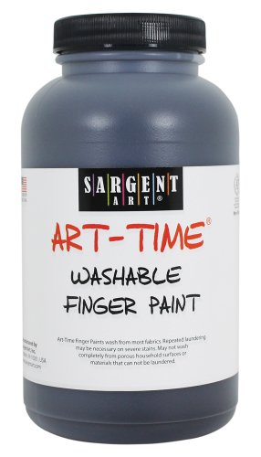 Sargent Art 22-9485 16-Ounce Art Time Washable Finger Paint, Black