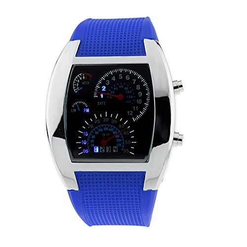 Mightyhand Men S Sports Rpm Turbo Blue Flash Led Car
