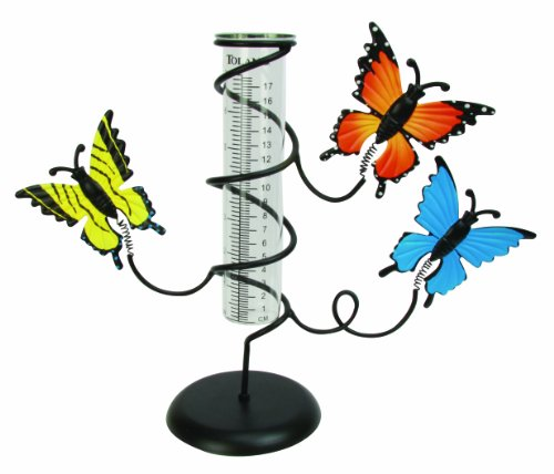 Toland Home Garden 210601 Butterfly Rain Gauge (Discontinued By Manufacturer)