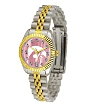 University of Iowa Hawkeyes Ladies Gold Dress Watch With Crystals