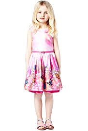 Autograph Pure Cotton Scenery Print Dress with Belt