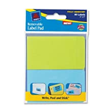 Avery Removable Label Pad, 2 x 3 Inches, Assorted Neon, 80 Labels (22017)