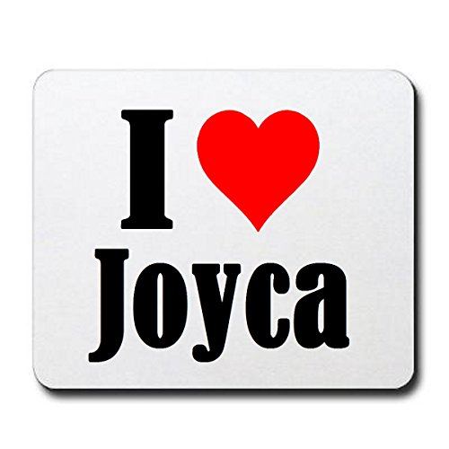 "ESCLUSIVO: Tappetino Mouse/ Mousepad ""I Love Joyca"" in Bianco, una grande idea regalo per il vostro partner, colleghi e molti altri! - regalo di Pasqua, Pasqua, mouse, poggiapolsi, antiscivolo, gamer gioco, Pad, Windows, Mac, iOS, Linux, computer, laptop, notebook, PC, ufficio , tablet, Made in Germany."