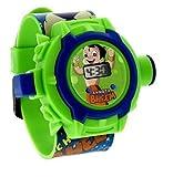 #5: Mango People Chota Bheem Projector Digital Green Dial Kids Watch-Mp-Cbpj-01