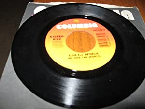 """We Are the World/Grace 7"""" 45 Record by Artist Quincy Jones 1985"""