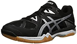 ASICS Men\'s Gel-Tactic Volleyball Shoe, Black/Onyx/Silver, 10 M US
