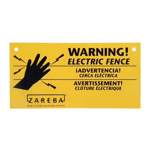 Zareba WS3 3-Pack Electric Fence Warning Signs Hardware